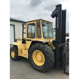 2003 SELLICK SD120 12000 LB DIESEL ROUGH TERRAIN 2WD FORKLIFT 118/144 2 STAGE MAST HEATED CAB ROTATOR STOCK # BF9203249-399-BUF