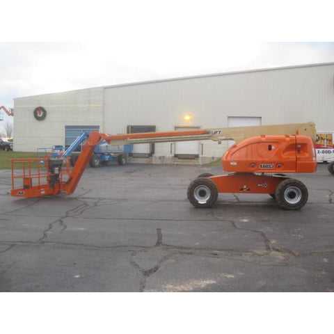 2007 JLG 460SJ TELESCOPIC BOOM LIFT AERIAL LIFT WITH JIB ARM 46' REACH DIESEL 4WD STOCK # BF9282109-369-WI - united-lift-equipment
