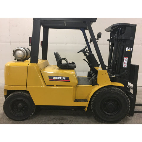 "2004 CATERPILLAR GP40K 8000 LB LP GAS FORKLIFT PNEUMATIC 87/187"" 3 STAGE MAST SIDE SHIFTER 3,671 HOURS STOCK # BF9144899-229-BUF - Buffalo Forklift LLC"