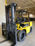 "2006 DAEWOO D35S 8000 LB LP GAS FORKLIFT PNEUMATIC 98/167"" 2 STAGE CLEAR VIEW MAST SIDE SHIFTER DUAL TIRE STOCK # BF981149-BUF - United Lift Equipment LLC"