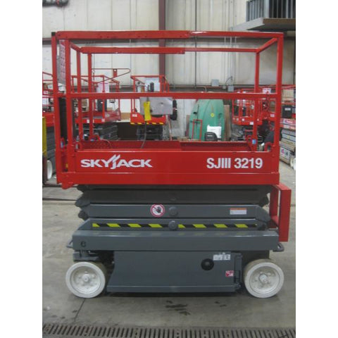 2007 SKYJACK SJ3219 SCISSOR LIFT 19' REACH 176 HOURS ELECTRIC SMOOTH CUSHION TIRES STOCK # BF960049-109-WI - Buffalo Forklift LLC