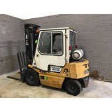 TCM FG20-N2 4000 LB LP GAS ENCLOSED CAB FORKLIFT PNEUMATIC 95/147 2 STAGE MAST ORIGINAL 2617 HOURS STOCK # BF94778-MYRBUF