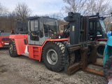 "2008 KALMAR DCE330 70000 LB CAPACITY DIESEL FORKLIFT PNEUMATIC  113/126"" 2 STAGE MAST ENCLOSED CAB SIDE SHIFTING FORK POSITIONER 4300 HOURS STOCK # BF92294259-295-CPA - United Lift Used & New Forklift Telehandler Scissor Lift Boomlift"