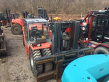 "2008 KALMAR DCE330 70000 LB CAPACITY DIESEL FORKLIFT PNEUMATIC  113/126"" 2 STAGE MAST ENCLOSED CAB SIDE SHIFTING FORK POSITIONER 4300 HOURS STOCK # BF92294259-295-CPA - united-lift-equipment"