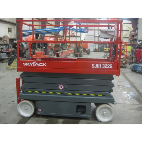 2008 SKYJACK SJ3226 SCISSOR LIFT 26' REACH 231 HOURS ELECTRIC SMOOTH CUSHION TIRES STOCK # BF985529-149-WI