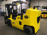 "2014 HOIST F220 22000 LB LP GAS FORKLIFT CUSHION 89/74"" 2 STAGE FULL FREE LIFT MAST SIDE SHIFTING FORK POSITIONER STOCK # BF9895779-OHB"