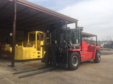 2016 KALMAR DCF250-12 55000 LB CAPACITY DIESEL FORKLIFT PNEUMATIC 138/140 2 STAGE MAST ENCLOSED CAB SIDE SHIFTING FORK POSITIONER 11 HOURS STOCK # BF93103329-CPA