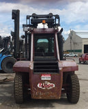 "2006 TAYLOR T-330M 33000 LB CAPACITY DIESEL FORKLIFT PNEUMATIC 163/180"" 2 STAGE MAST ENCLOSED CAB SIDE SHIFT & FORK POSITIONER 4156 HOURS STOCK # BF9866279-HKPA"