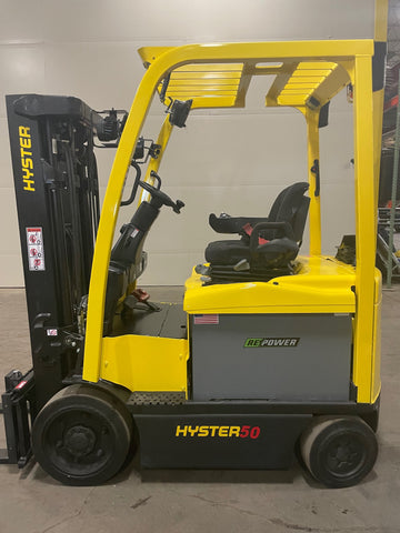 2015 HYSTER E50XN-33 5000 LB ELECTRIC EE RATED CUSHION 88/189 3 STAGE MAST SIDE SHIFTER 4 UNITS UNDER 1000 HOURS STOCK # BF992539-BUF