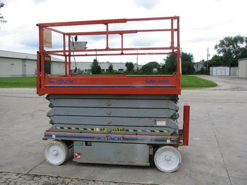 2007 SKYJACK SJ4632 SCISSOR LIFT 32' REACH ELECTRIC SMOOTH CUSHION TIRES 171 HOURS STOCK # BF969549-WIBIL