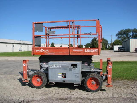 2012 SKYJACK SJ6832RT SCISSOR LIFT 32' REACH DUAL FUEL 786 HOURS STOCK # BF9155539-WIBIL