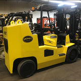 "2014 HOIST F220B 22000 LB LP GAS FORKLIFT 89/74"" FULL FREE LIFT CUSHION TIRE SIDE SHIFTING FORK POSITIONER 9200 HOURS STOCK # BF989349-OLOH"