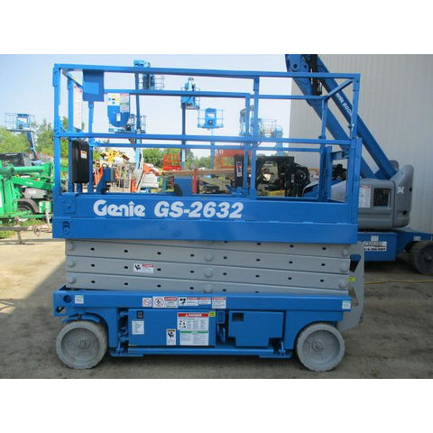 GENIE GS2632 SCISSOR LIFT 26' REACH ELECTRIC SMOOTH CUSHION TIRES STOCK # BF954329-99-WI - Buffalo Forklift LLC