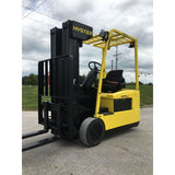 2007 HYSTER J40ZT 4000 LB 48 VOLT ELECTRIC FORKLIFT CUSHION SIDE SHIFTER 83/240 QUAD MAST STOCK # BF991479-PEIN - united-lift-equipment