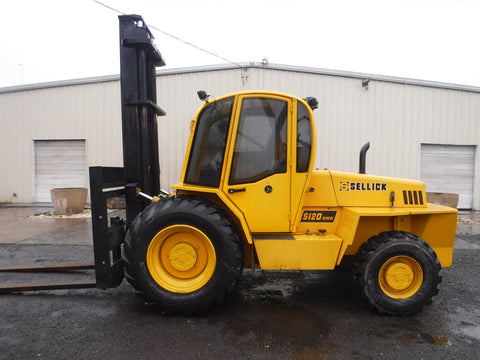 2007 SELLICK S120 12000 LB DIESEL ROUGH TERRAIN FORKLIFT 129/168 2 STAGE MAST ENCLOSED HEATED CAB 3400 HOURS STOCK # BF9367789-NLEB