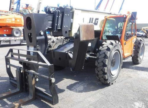 2018 JLG G12-55A 12000 LB DIESEL TELESCOPIC FORKLIFT TELEHANDLER PNEUMATIC 4WD ENCLOSED HEAT & AC CAB STOCK # BF91384529-NLEPA