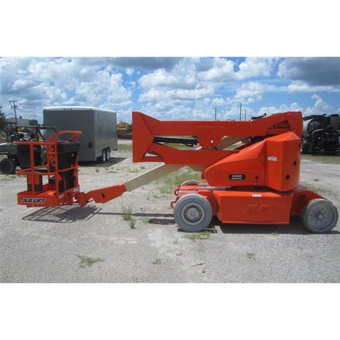 2007 JLG E400AN ARTICULATING BOOM LIFT AERIAL LIFT 40' REACH 48V ELECTRIC STOCK # BF9234269-329-MFLS - united-lift-equipment