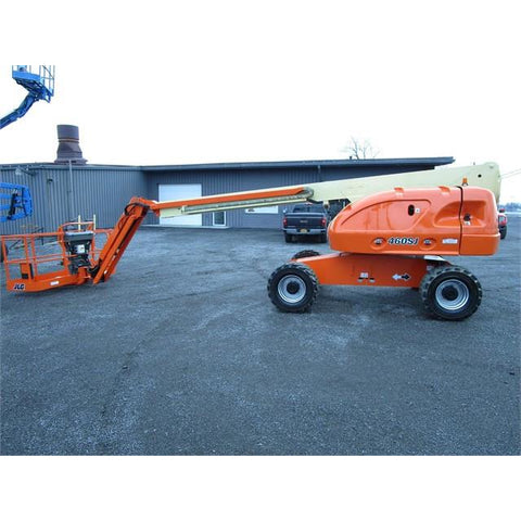 2008 JLG 460SJ TELESCOPIC BOOM LIFT AERIAL LIFT WITH JIB ARM 46' REACH DIESEL 4WD STOCK 3899 HOURS # BF9319289-399-BNY - united-lift-equipment