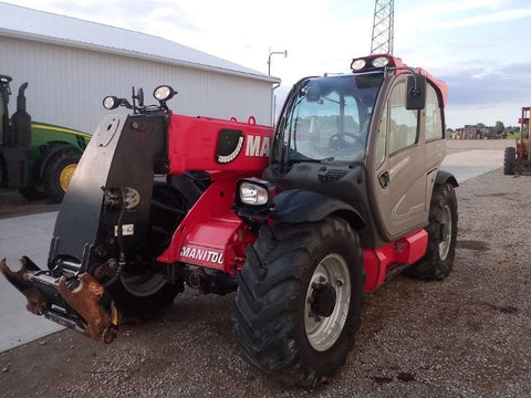 2014 MANITOU MLT 840-115PS 9000 LB DIESEL PNEUMATIC TELEHANDLER ENCLOSED CAB 25' REACH 1800 HOURS STOCK # BF91087209-MIB - united-lift-equipment