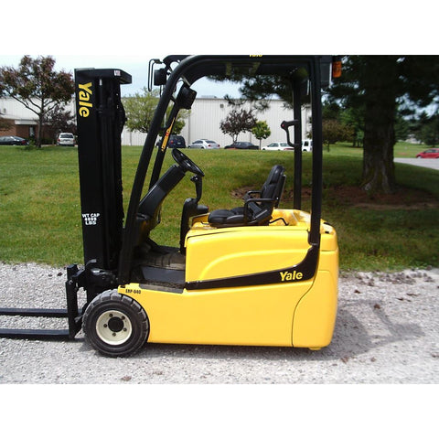 2014 YALE ERP040THN36TE094 4000 LB 81/189 3 STAGE MAST 36 VOLT ELECTRIC FORKLIFT PNEUMATIC SIDE SHIFTER STOCK # BF9132549-189-INB
