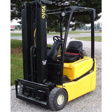 2004 YALE ERP030 3000 LB ELECTRIC FORKLIFT 83/240 QUAD MAST STOCK # BF99129-PEIN - united-lift-equipment