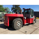 "2013 KALMAR DCE280 62000 LB CAPACITY DIESEL FORKLIFT PNEUMATIC 126"" 2 STAGE MAST ENCLOSED CAB SIDE SHIFTING FORK POSITIONER 2800 HOURS STOCK # BF93104259-359-CPA"