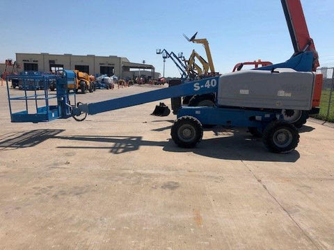 2012 GENIE S40 TELESCOPIC BOOM LIFT AERIAL LIFT 40' REACH DIESEL 4WD 1950 HOURS STOCK # BF9254539-WIBTX - United Lift Used & New Forklift Telehandler Scissor Lift Boomlift