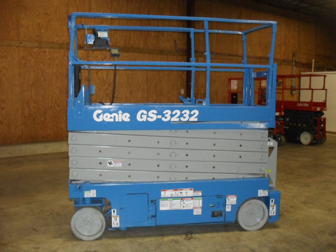 2008 GENIE GS3232 SCISSOR LIFT 32' REACH ELECTRIC SMOOTH CUSHION TIRES 411 HOURS STOCK # BF963579-WIB - United Lift Used & New Forklift Telehandler Scissor Lift Boomlift