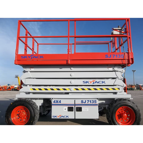 2006 SKYJACK SJ7135 SCISSOR LIFT 35' REACH DUAL FUEL PNEUMATIC TIRES STOCK # BF9119519-219-WI