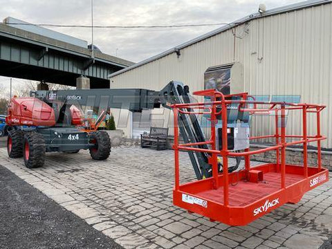 2014 SKYJACK SJ66T STRAIGHT BOOM LIFT AERIAL LIFT WITH JIB ARM 66' REACH DIESEL 4WD 1426 HOURS STOCK # BF9425149-NLE