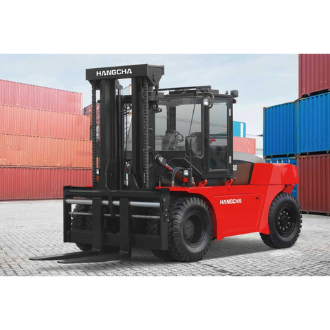 2020 HANGCHA CPCD140 30000 LB FORKLIFT DIESEL PNEUMATIC 141/142 2 STAGE MAST SIDE SHIFTER FORK POSITIONER ENCLOSED CAB HEAT AND A/C STOCK # BF9128419-PENC
