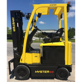 2011 HYSTER E40XN 4000 LB ELECTRIC CUSHION 82/187 3 STAGE MAST SIDE SHIFTER 2440 HOURS STOCK # BF9122539-249-INB