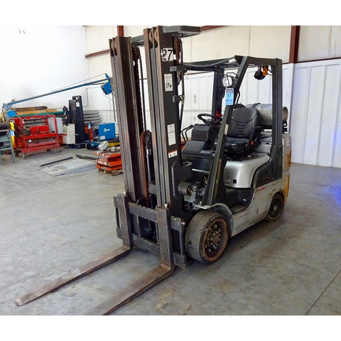 2005 NISSAN MCU1F2A30 6000 LB LP GAS FORKLIFT CUSHION 85/189 3 STAGE SIDE SHIFTER MAST 3560 HOURS STOCK # BF997549-169-BUFB - United Lift Used & New Forklift Telehandler Scissor Lift Boomlift