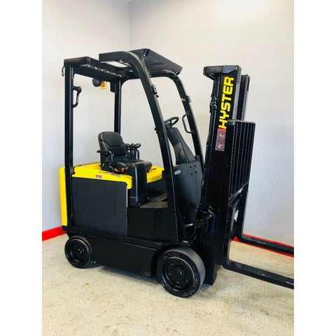 2012 HYSTER E40XN 4000 LB ELECTRIC CUSHION 89/189 3 STAGE MAST SIDE SHIFTER 5880 HOURS STOCK # BF915919-COCA
