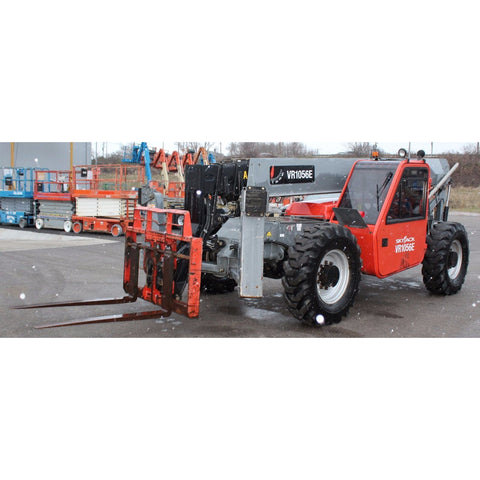 2014 SKYJACK 1056 10000 LB DIESEL TELESCOPIC FORKLIFT TELEHANDLER PNEUMATIC ENCLOSED CAB 2900 HOURS STOCK # BF98922939-PEOH