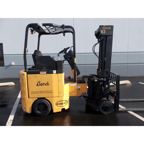 2012 BENDI B30/42E-180D 3000 LB 48 VOLT ELECTRIC FORKLIFT CUSHION 87/198 3 STAGE MAST 1569 HOURS STOCK # BF9296439-RILBS
