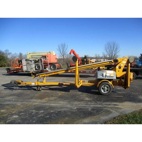 2013 BILJAX 3632T TOWABLE BOOM LIFT AERIAL LIFT 36' REACH height and 27' horizontal outreach ELECTRIC 627 HOURS STOCK # BF9134579-WIB