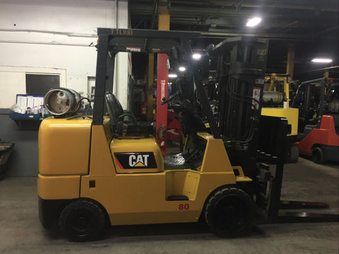 "2016 CATERPILLAR GC40K 8000 LB LP GAS FORKLIFT CUSHION 86/183"" 3 STAGE MAST SIDE SHIFTING FORK POSITIONER 10649 HOURS STOCK # BF981139-BSOH - United Lift Used & New Forklift Telehandler Scissor Lift Boomlift"