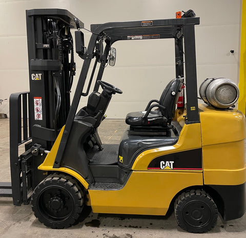 "2016 CATERPILLAR 2C6500 6500 LB LP GAS FORKLIFT CUSHION 87/185"" 3 STAGE MAST SIDE SHIFTING FORK POSITIONER MULTIPLE UNITS AVAILABLE STOCK # BF986779-BUF"