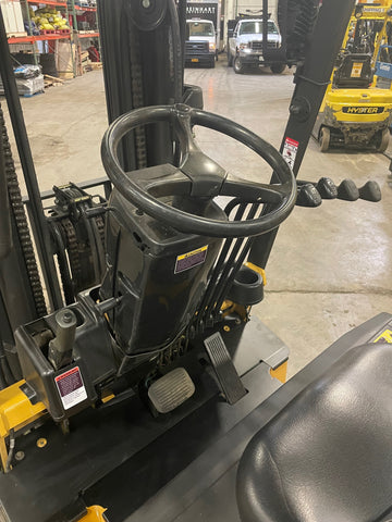 "2012 CAT E5000 5000 LB ELECTRIC FORKLIFT CUSHION 83/186"" 3 STAGE MAST SIDE SHIFTER STOCK # BF979149-BUF - United Lift Equipment LLC"