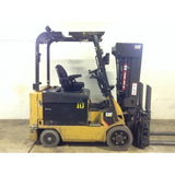 2012 CATERPILLAR E6500 6500 LB 36 VOLT ELECTRIC FORKLIFT CUSHION 84/240 QUAD MAST SIDE SHIFTER FORK POSITIONER 8772 HOURS STOCK # BF974289-139-DFOH **OWN FOR ONY $268 PER MONTH**