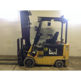 2012 CATERPILLAR E6500 6500 LB 36 VOLT ELECTRIC FORKLIFT CUSHION 101/221 3 STAGE MAST SIDE SHIFTER FORK POSITIONER 9987 HOURS STOCK # BF963299-129-DFOH **OWN FOR ONLY $248 PER MONTH**