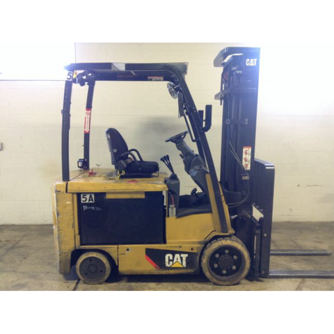 2013 CATERPILLAR EC30LN2 6000 LB 48 VOLT ELECTRIC FORKLIFT CUSHION TIRE 97/148 2 STAGE MAST SIDE SHIFTER 5300 HOURS STOCK # BF962309-119-DFOH **OWN FOR ONLY $268 PER MONTH**
