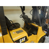 2014 CATERPILLAR GC40K 8000 LB LP GAS FORKLIFT CUSHION 101/208 3 STAGE MAST SIDE SHIFTING FORK POSITIONER 1500 HOURS STOCK # BF9229329-299-LSCB