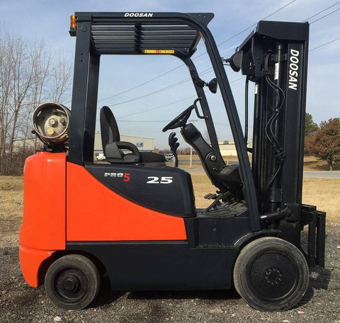 "2008 DOOSAN GC25P-5 5000 LB LP GAS FORKLIFT CUSHION 84/186"" 3 STAGE MAST SIDE SHIFTER 3742 HOURS STOCK # BF9101979-INB - United Lift Used & New Forklift Telehandler Scissor Lift Boomlift"