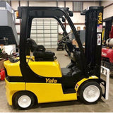 2012 YALE GLC050 5000 LB LP GAS FORKLIFT CUSHION 87/189 3 STAGE MAST SIDE SHIFTER 5216 HOURS STOCK # BF122519-PENC