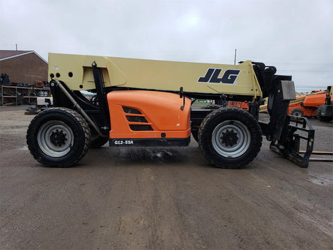 2014 JLG G12-55A 12000 LB DIESEL TELESCOPIC FORKLIFT TELEHANDLER PNEUMATIC 4WD ENCLOSED CAB 4295 HOURS STOCK # BF9876129-105-VAOH - united-lift-equipment