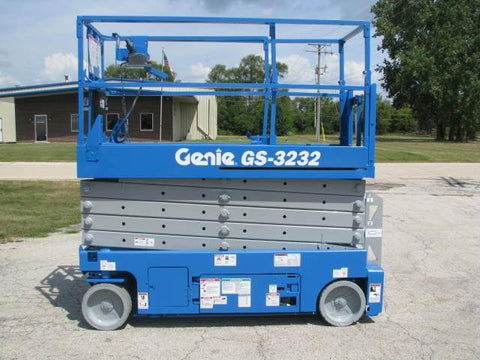 2011 GENIE GS3232 SCISSOR LIFT 32' REACH ELECTRIC SMOOTH CUSHION TIRES 278 HOURS  STOCK # BF993549-WIB