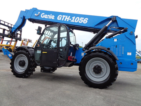 BRAND NEW 2019 GENIE GTH-1056 10000 LB DIESEL TELESCOPIC FORKLIFT TELEHANDLER PNEUMATIC 4WD ENCLOSED CAB STOCK # BF9128519-VAOH