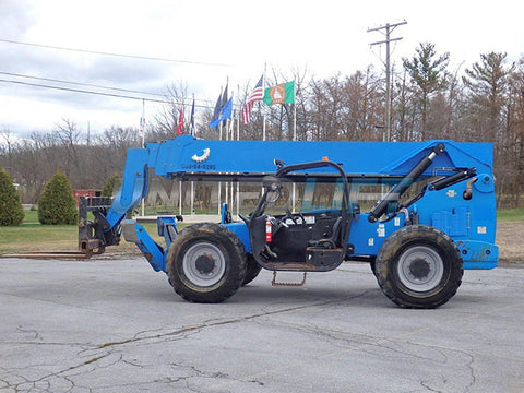 2015 GENIE GTH1056 10000 LB DIESEL TELESCOPIC FORKLIFT TELEHANDLER PNEUMATIC 4WD OPEN CAB 5657 HOURS STOCK # BF9398129-PAB